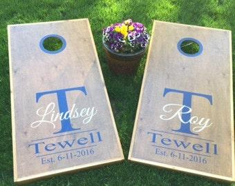 Wedding Cornhole Decals   Bride & Groom Decals   Custom Wedding Decals    His Hers Decals Corn Hole Decals  Custom Cornhole Board Decals