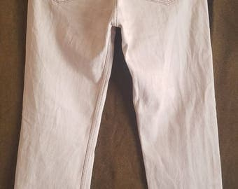 Rare 501 Levis Jeans Two Red Tabs Button Fly 34x34 American Made USA