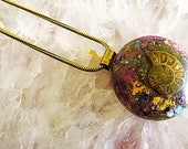Powerful Orgone Pendant - Pyrite/Ammonite/Blue Apatite/Amethyst - FREE WORLDWIDE SHIPPING!