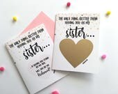 Bridesmaid Proposal for Sister Scratch Off Card- The only thing better than having you as my sister - Bridesmaid - Maid of Honor ROSE GOLD