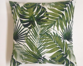 Tropical Botanics Palm Leaves Indoor/Outdoor Pillow Cover