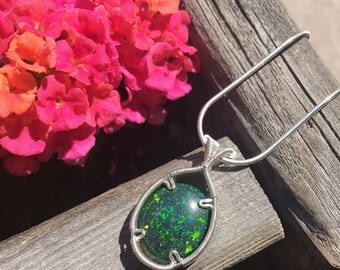 Opal Wire Wrapped Pendant, Wire Wrap, Opal Wire Wrap, Opal Pendant, Opal Jewelry, Heady Wire Wrap, Wire Wrapped Jewelry, Heady