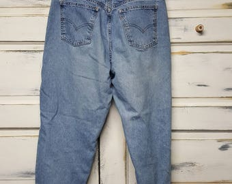 Vintage Levis 961  jeans 80s 90s boyfriend jeans, Loose fit/straight leg; Ladies 16 short,