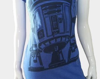 Star Wars R2D2 blue fitted scoop neck dress