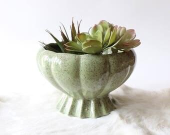 Vintage Pottery Planter Mid Century Pink Speckled Planter Mid Century Modern Plant Pot Flower Pot