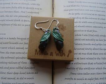 Pretty Labradorite Leaf  Earrings