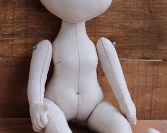 Doll (10.6in), blank, body, idea, imagination doll bodies , blank rag doll, doll body,the body of the doll made of cloth