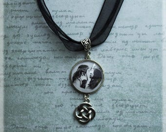 Elvish Jewelry, Silver Necklace, Silver Pendant, Elvish Art, Couple Gifts, Silver Jewelry, Girlfriend Gift, Gifts for her, Birthday Gifts
