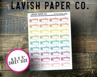 Weight Loss Meeting Planner Stickers by Lavish Paper Co. | Fitness Sticker, Weight Loss Sticker, WW Sticker, Health Sticker, Diet Sticker
