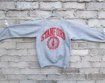Vintage Sweatshirt 1990s Stanford University Distressed Preppy Collegiate Clueless Sports Athletic Surfer Skater Chill Unisex