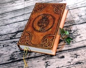 Key Ensorcel Journal 300p Blank Book of Shadows painted Grimoire