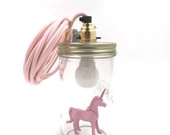 "Lamp ""Le Bocal Allumé"" - Unicorn"