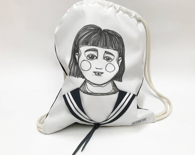 Sailor Bag ANNETTE - Drawstring backpack with Sailor Collar