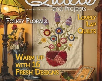 Magazine: NEW ISSUE! Spring 2018 Primitive Quilts and Projects