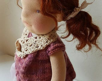 Henrietta - Waldorf Doll, handmade, one of a kind, natural fiber doll