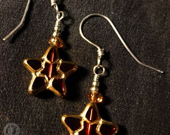 Étoiles écarlates - en acier inoxydable et verre