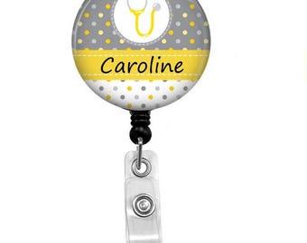 Nurse Badge Reel - Id Badge Holder - Badge Holder - ID Badge Reel - Retractable Badge - Name Badge Holder - Nurse RN LPN