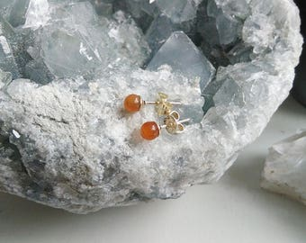 EARRINGS l Carnelian (mini)