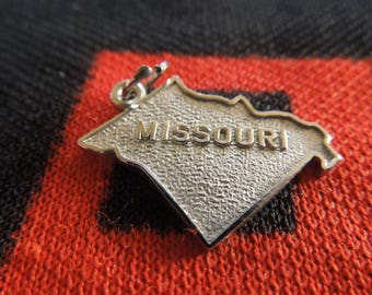 Sterling Missouri State Charm Sterling Silver Missouri Map Charm for Bracelet from Charmhuntress 05075
