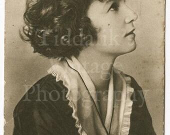 Mrs. Vernon Castle Edwardian Actress RPPC Postcard - Postmarked 1918