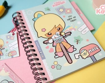 Chic Kawaii super cute Weekly Planner notebook with surprise.