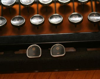 Antique Typewriter Key Earrings (Asterisks)