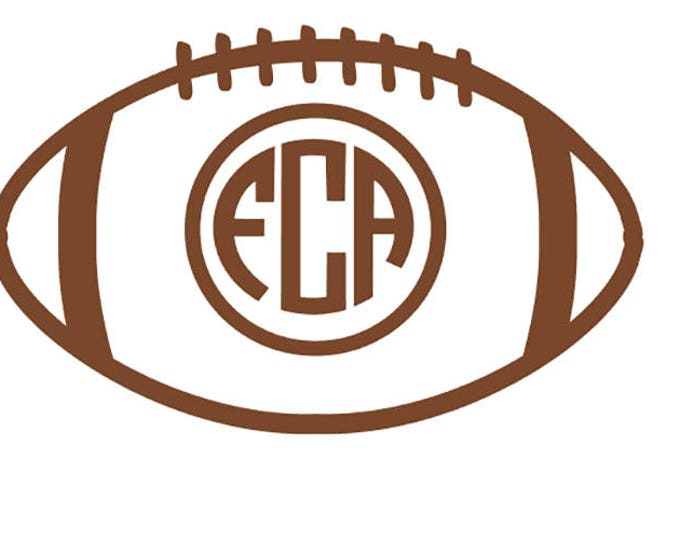 """FREE SHIPPING //  5x3"""" Football Monogram Vinyl Decal - Great For Laptops And Water Bottles! - Custom Letter - Initials - Family - Name"""