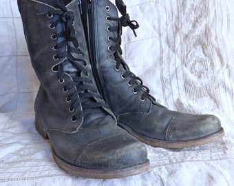 Distressed Combat Boots Women's size 8