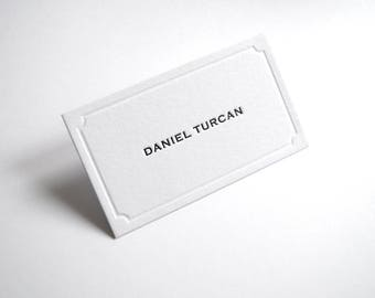 100 Daniel Ocean letterpress business cards