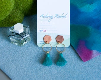 Geo | Copper Hexagon | Earrings