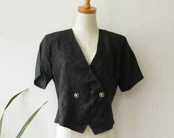 Black cropped bolero jacket