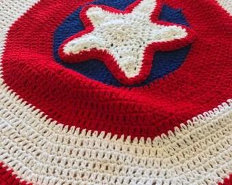 Captain America Superhero Blanket