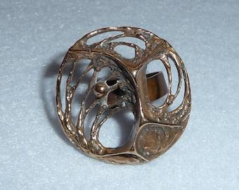 Karl Laine (Finland). Ring. Bronze. Vintage.