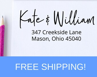 Custom Address Stamp, Return Address Stamp, Self Inking Address Stamp, Christmas Gift, Housewarming Gift  (D300)