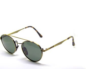CHARRO ITALY round old gold new vintage sunglasses