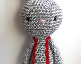 Russ the Rabbit – Crochet Amigurumi Plushie Soft Toy – BABY SAFE