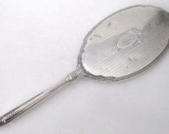 Antique Edwardian Sterling Silver Hand Mirror