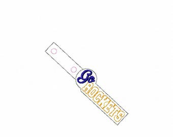 Go Rockets - Key Fob In The Hoop - DIGITAL Embroidery DESIGN