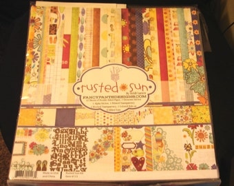 """Fancy Pants Designs Collection Kit-12""""X12""""-Rusted Sun-Papers,Stickers & More-New"""