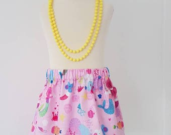 Mermaid skirt, mermaid party, under the sea, pink skirt, cat and mouse, UK clothing