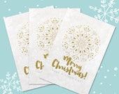 """10 x Christmas Card Set """"Mandala"""" Postcard Holiday"""