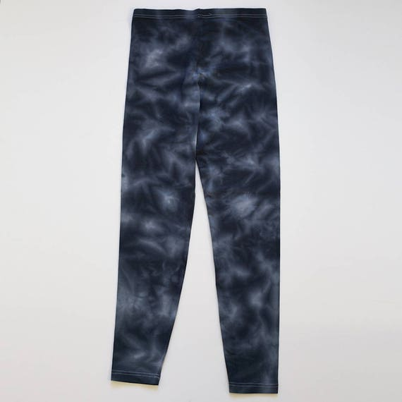 XL Blue Black Crystal Wash Leggings