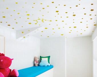 Gold star decals, ceiling decals, Constellation, ceiling stars, ceiling stickers, stars for ceiling, ceiling decal, star ceiling, gold decal