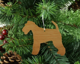 Welsh Terrier Ornament in Wood or Mirror Acrylic Customizable with Name