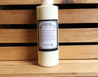 Organic Sunscreen - Organic Sunblock - Natural Sunscreen - Natural Sunblock - Homemade Sunscreen - Homemade Sunblock