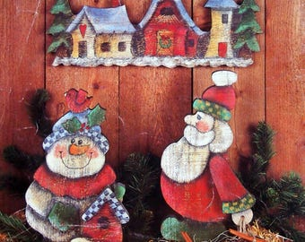 Down Home Christmas By Kathy Distefano Griffiths Vintage Tole And Decorative Painting Book 1995