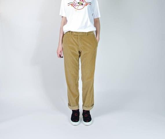 SALE! Vintage Hugo Boss toffee cotton corduroy pants boyfriend fit / size M-L