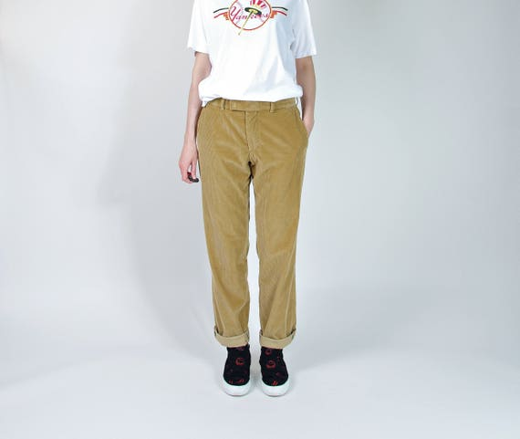 Vintage Hugo Boss toffee cotton corduroy pants boyfriend fit / size M-L