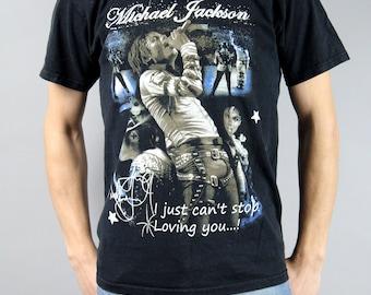 Vintage 90s Michael Jackson T Shirt, Grunge Rocker Rock Retro TShirt, Attribute Tee, Concert Memorabilia Collectible / Size Large Small