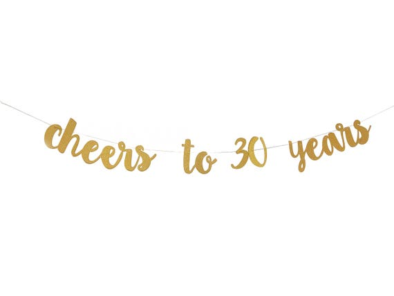 cheers to 30 40 50 years banner 30th birthday banner 40th